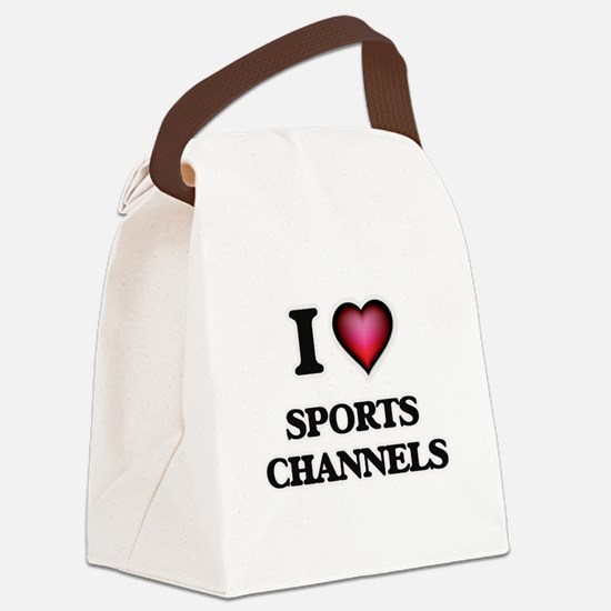 I love Sports Channels Canvas Lunch Bag