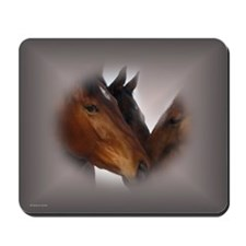 Nose to Nose Horses Mousepad