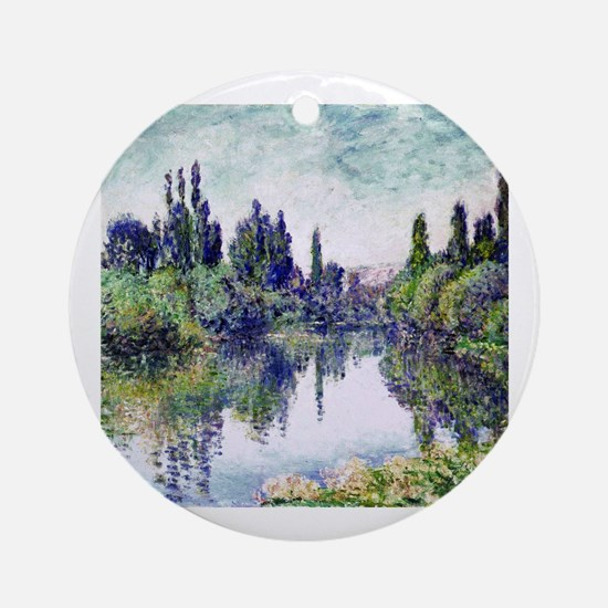 Funny Monet Round Ornament