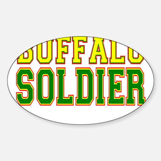 Buffalo Soldier.png Sticker (Oval)