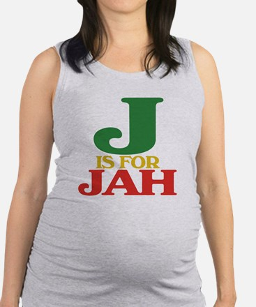 J is for Jah.png Maternity Tank Top