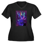 Blender.jpg Women's Plus Size V-Neck Dark T-Shirt