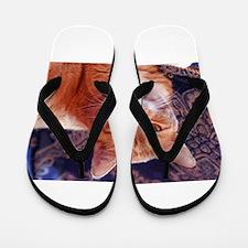 Juba the kitty cat Flip Flops