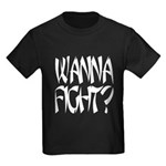 Wanna fight.png Kids Dark T-Shirt