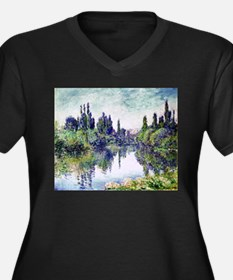 Morning on the Seine, near Vethe Plus Size T-Shirt