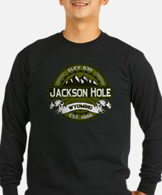 Jackson Hole Olive Long Sleeve T-Shirt