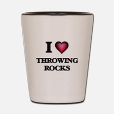 I love Throwing Rocks Shot Glass