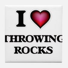 I love Throwing Rocks Tile Coaster