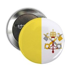 "Vatican City Flag 2.25"" Button (10 pack)"
