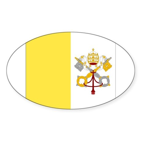 Vatican City Flag Oval Sticker