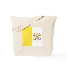 Vatican City Flag Tote Bag