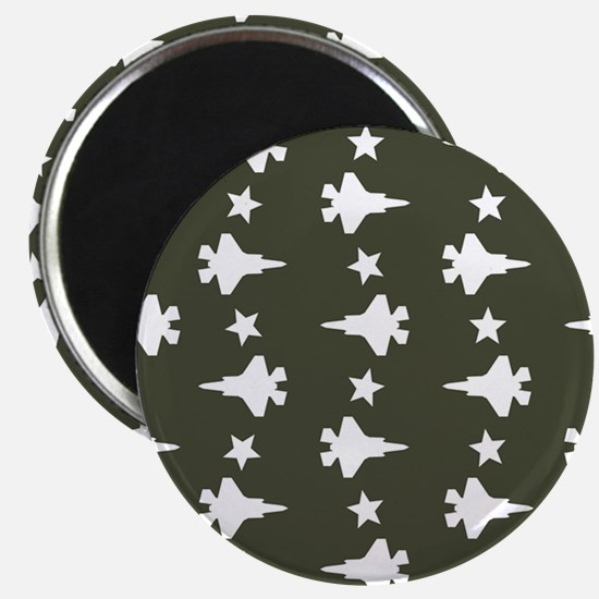 F-35 Lightning II & Stars Pattern (Military Magnet