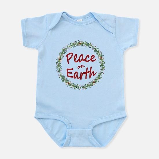 Christmas Peace on Earth Wreath Body Suit