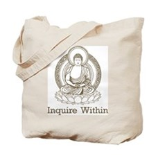 Vintage Buddha Inquire Within Tote Bag