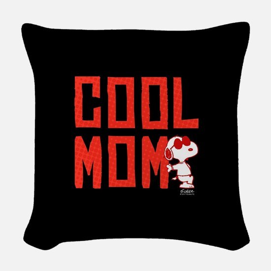 Peanuts Mom Woven Throw Pillow