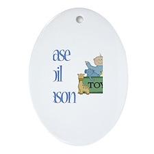 Please Spoil Mason Oval Ornament