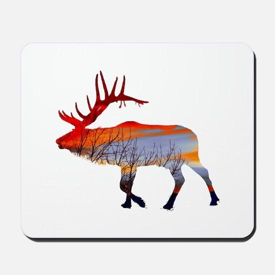Sunset elk Mousepad