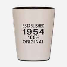 Established In 1954 Shot Glass