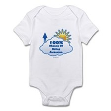 100% Chance Of Being Awesome Infant Bodysuit
