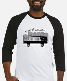 Funeral Director Hearse RIP.PNG Baseball Jersey