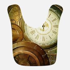 Steampunk, the clockswork Polyester Baby Bib