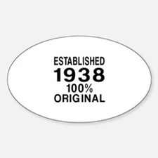 Established In 1938 Decal