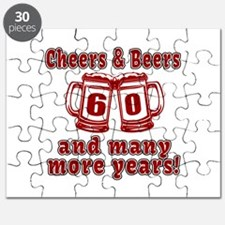 Cheers And Beers 60 And Many More Years Puzzle