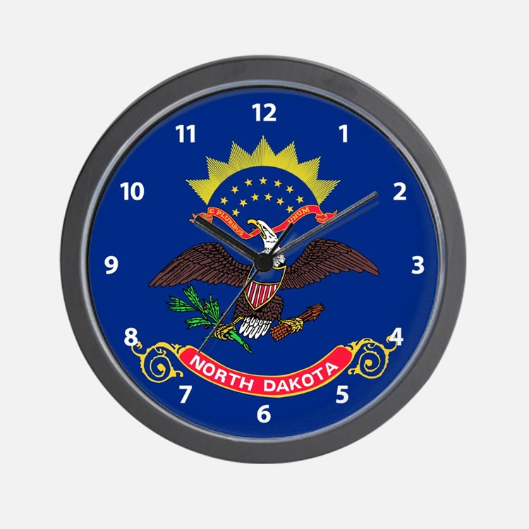 Flag Of North Dakota Wall Clock
