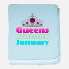 Queens are Born In January baby blanket