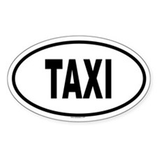 TAXI Oval Decal