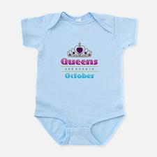 Queens are Born In October Body Suit