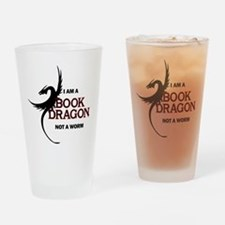 I am a Book Dragon Drinking Glass