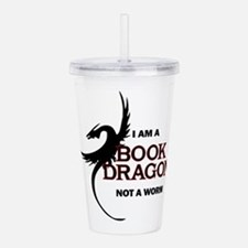I am a Book Dragon Acrylic Double-wall Tumbler