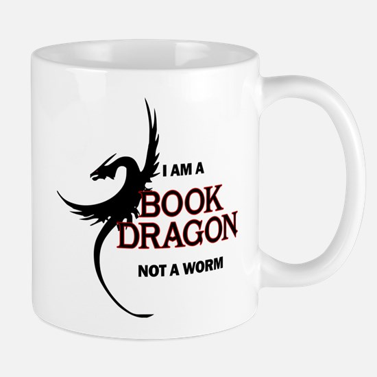 I am a Book Dragon Mugs