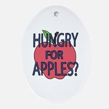 Funny Apples Oval Ornament