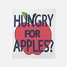 Cute Apples Throw Blanket