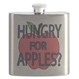 Hungry for apples Flask Bottles