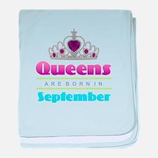 Queens are Born In September baby blanket