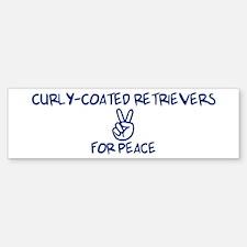 Curly-Coated Retrievers for P Bumper Bumper Bumper Sticker