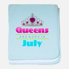 Queens are Born In July baby blanket