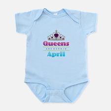 Queens are Born In April Body Suit
