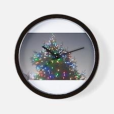 Christmas tree and twili Wall Clock