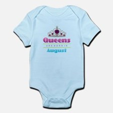 Queens are Born In August Body Suit