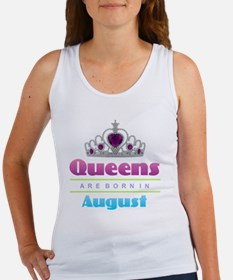 Queens are Born In August Tank Top