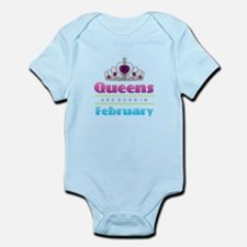 Queens are Born In February Body Suit