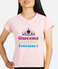 Queens are Born In Februar Performance Dry T-Shirt