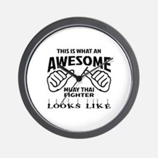 This is what an Muay Thai Fighter looks Wall Clock