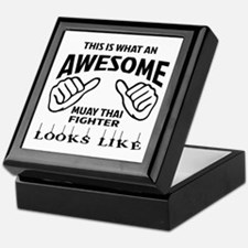 This is what an Muay Thai Fighter loo Keepsake Box