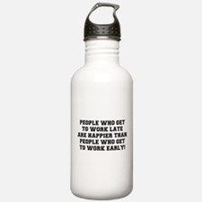 PEOPLE WHO GET TO WORK Water Bottle