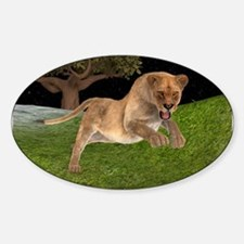 Female Lion Hunting Decal